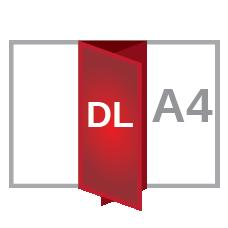A4 roll fold DL