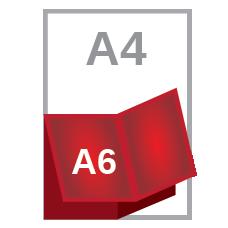 A4 cross fold A6