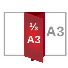 A3 roll fold ⅓A3