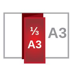 A3 z fold ⅓A3