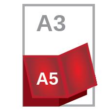 A3 cross fold A5