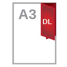 A3 half & roll fold DL